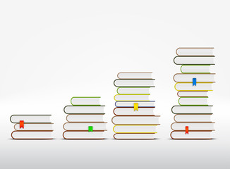 Stacks of books are in the form of a graph