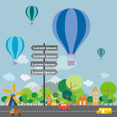 Travel around the world infographic, vector format