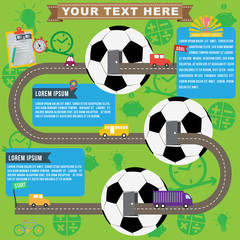 Soccer business infographics, vector format