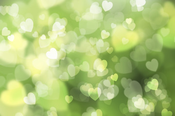 natural green background, with heart shape