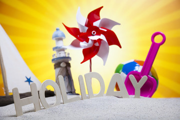 Holiday beach background