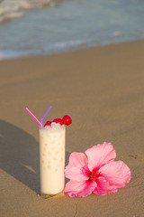 Horchata on the beach