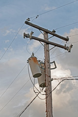 Vintage power pole circa 1940