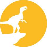 Heulender Raptor Vollmond Klippe Design poster