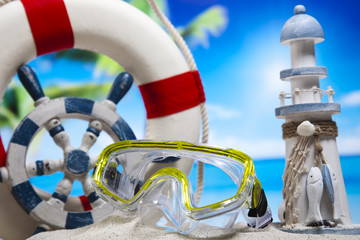 Beach accessories, summer vacation