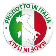 Prodotto in Italia. Made in Italy. Label product.