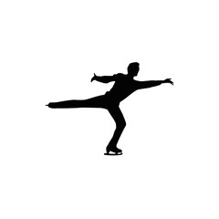 figure skating individual, silhouette