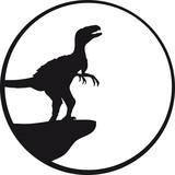 Heulender Raptor Vollmond Klippe poster