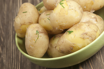 Boiled Young potatoes