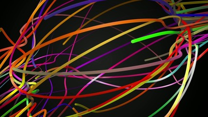 Rainbow Stripes Line Loop Space Animation Dark Background