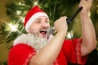 Fat Santa belting Jingle Bells