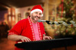 Smiling Santa singing Christmas songs