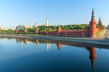 Moskva River and Moscow Kremlin in the morning