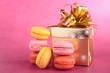 macaroon and gift box