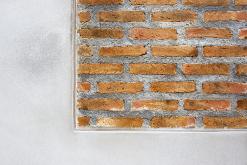 brick wall background under construction