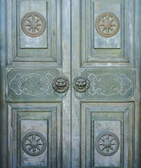 Metal door in Chinese design for interior