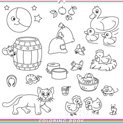 coloring book with animals