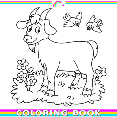 coloring book with the goat