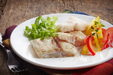 fried pangasius fish fillet pieces