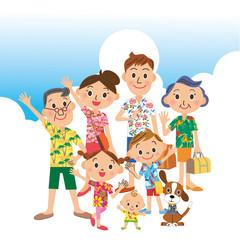 家族3世代で夏の旅行