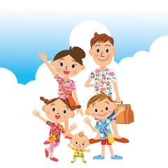 家族で夏の旅行