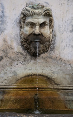 Fountain Bronze Pigna at Vatican. Italy