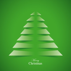 Cutting Christmas Tree Green Background