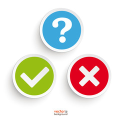 Question Yes No Round Icons