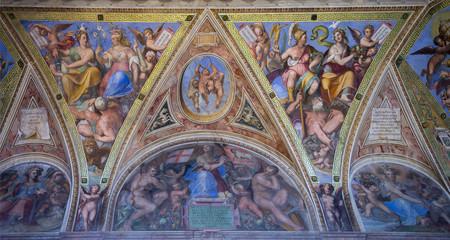 Vatican frescoes. Italy