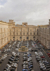 Courtyard of the Vatican. Italy