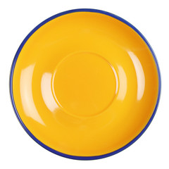 Empty yellow plate