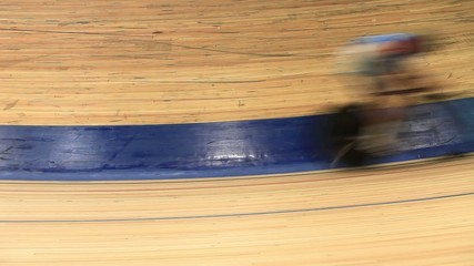 bicycle race blurred motion