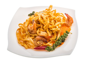 Fried noodles with shrimps