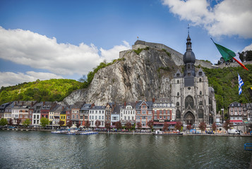 view from river at Dinant