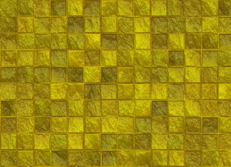 many square golden tile pattern texture