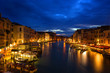 night view of Grand Canal in Venice. Italy.