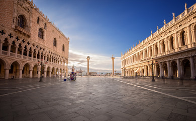 San Marco square in the morning. Venice. Italy.