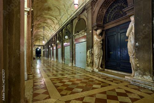 Poster Venice arcade of Biblioteca Marciana. Venice. Italy.
