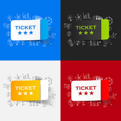 Drawing business formulas: ticket