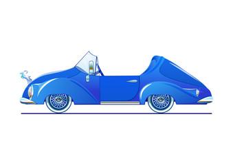 Blue classic convertible