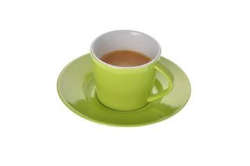 Espresso Tasse auf weiss Hintergrund