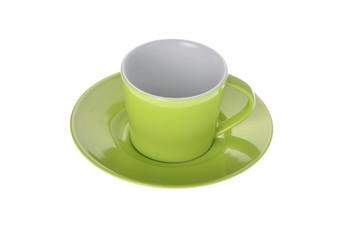 Espresso Tasse auf weiss