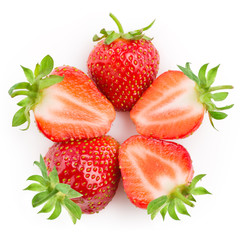 Strawberry. Berries isolated on white