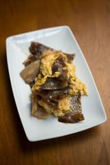 キクラゲと豚肉の卵炒め