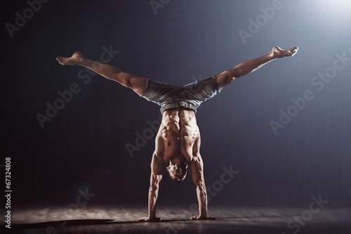 Foto op Canvas Dance School Handstand