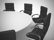 Conference table and chairs in meeting room. 3d render