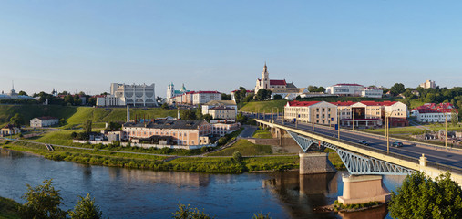 Panoramic view of downtown Grodno Belarus