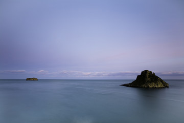 Seascape at Thatcher Rock, Torquay, Devon, Uk