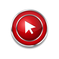 Click Circular Vector Red Web Icon Button