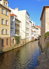 Water channel Certovka in Prague